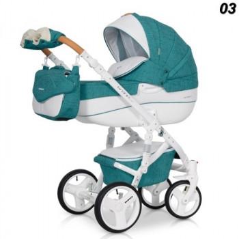 Детская коляска Riko Bruno Luxe 3в1