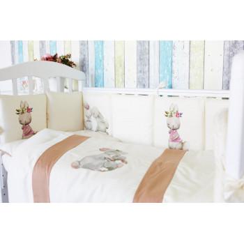 Комплект в кроватку Топотушки Зайка Акварель (6 предметов) 674