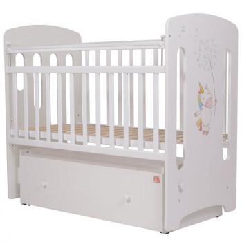 Кроватка детская Топотушки Единороги с маятником
