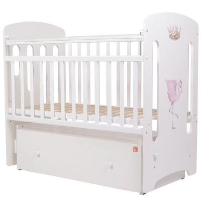 Кроватка детская Топотушки Фламинго с маятником