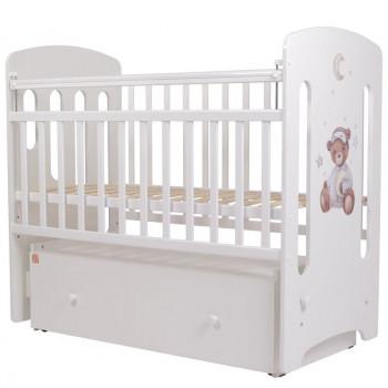 Кроватка детская Топотушки Пижамная вечеринка с маятником