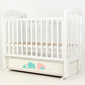 Кроватка детская Топотушки Слоники с маятником