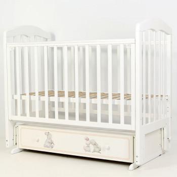 Кроватка детская Топотушки Зайки-Акварель с маятником